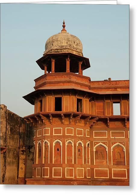 Jahangiri Mahal, Agra Fort, Agra, Uttar Greeting Card by Inger Hogstrom