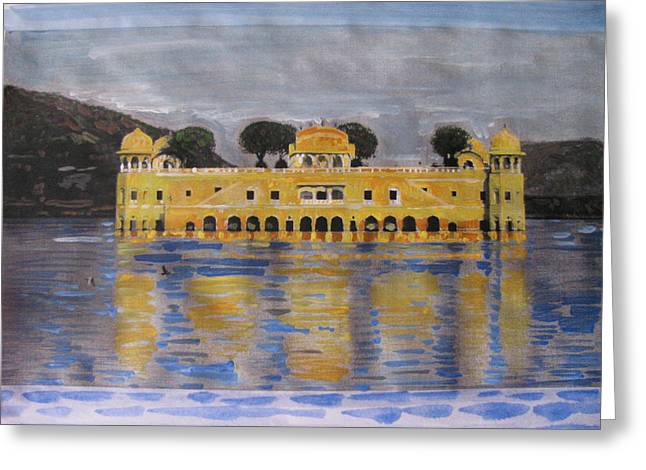 Greeting Card featuring the painting Jai Mahal by Vikram Singh