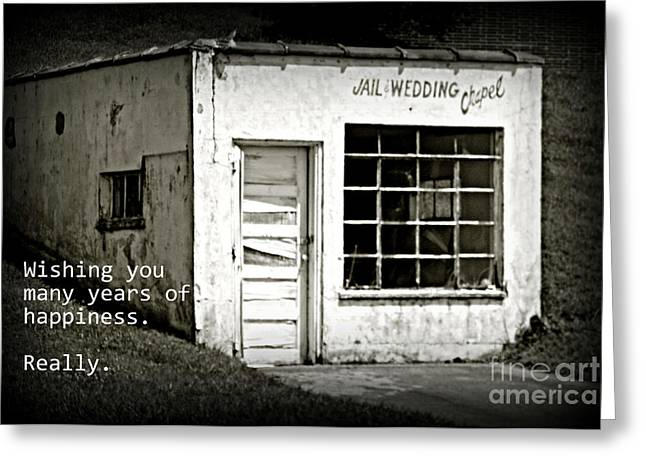 Jail And Wedding Chapel Greeting Card