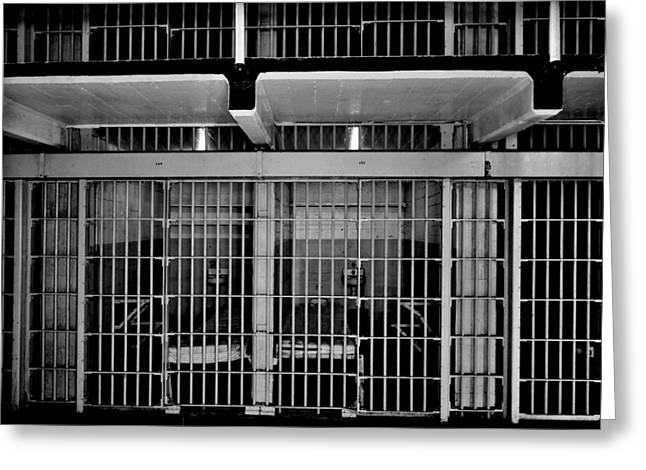 Jail Cells Greeting Card by Benjamin Yeager