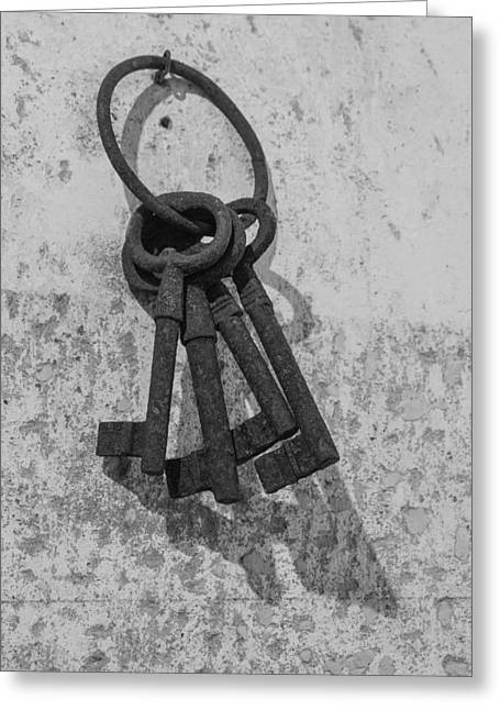 Jail House Keys Greeting Card