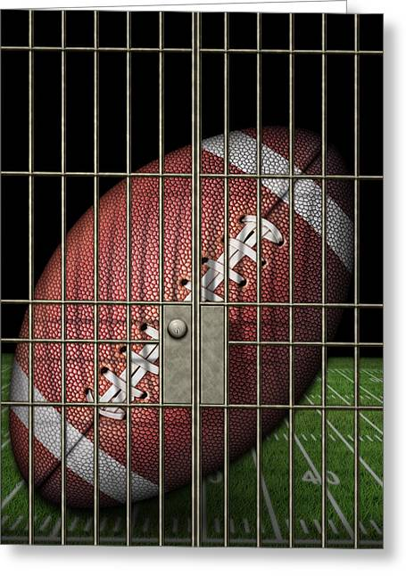 Jailed Football Greeting Card