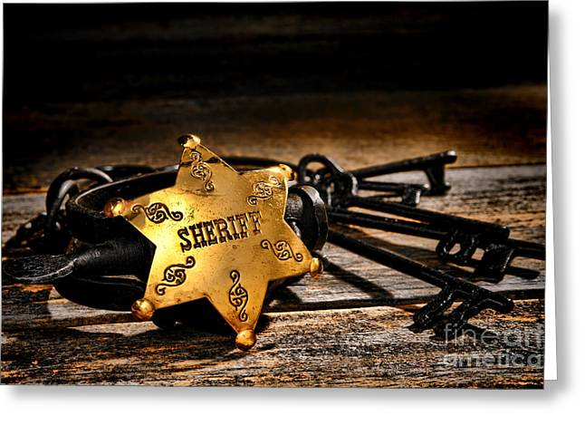 Jailer Tools Greeting Card by Olivier Le Queinec