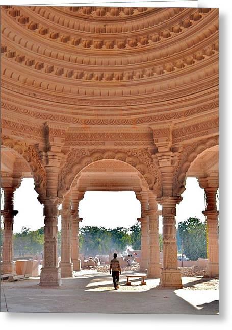 Jain Temple Entrance - Amarkantak India Greeting Card by Kim Bemis