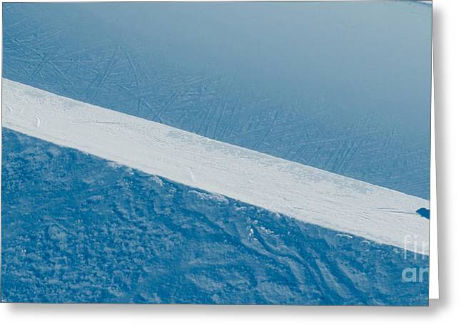 Jakobshorn Air Snowboarder Halfpipe Davos Greeting Card by Andy Smy