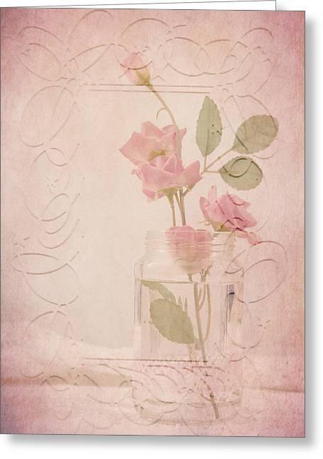 Jam Jar Roses  Greeting Card