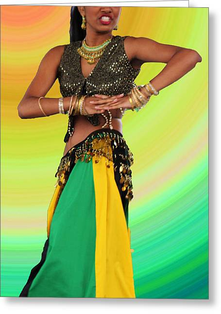 Jamaican Belly Dancer Greeting Card