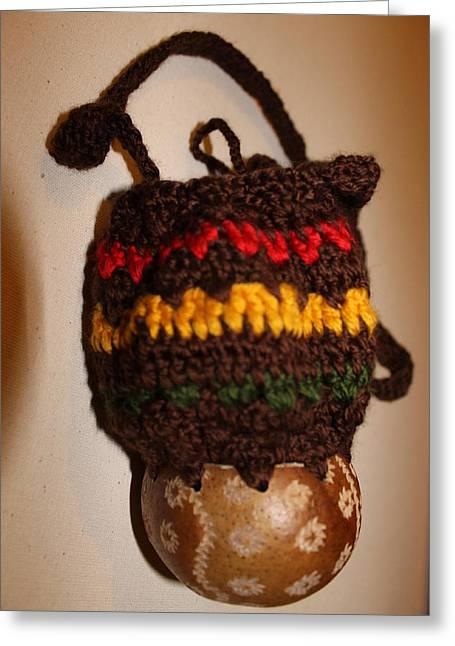 Jamaican Coconut And Crochet Shoulder Bag Greeting Card by MOTORVATE STUDIO Colin Tresadern