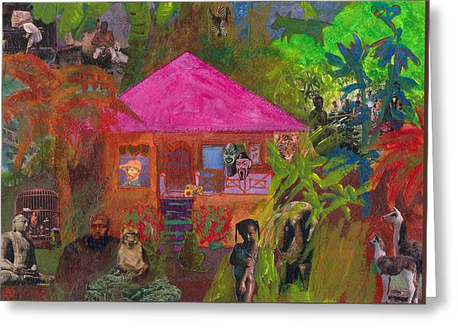 Greeting Card featuring the mixed media Jamaican Holiday by Catherine Redmayne