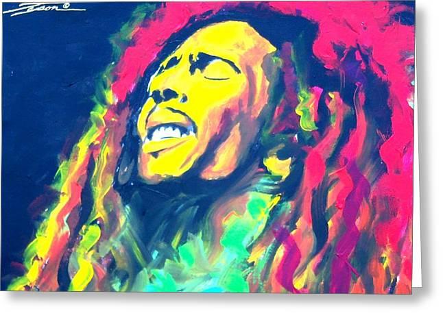 Jamaican Sun Greeting Card by Jonathan Tyson