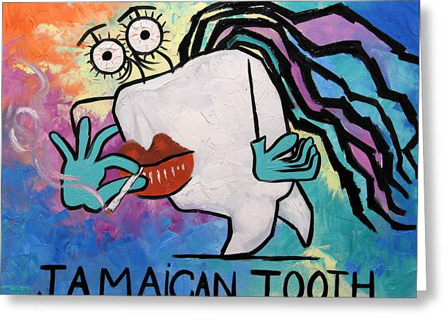 Jamaican Tooth Greeting Card