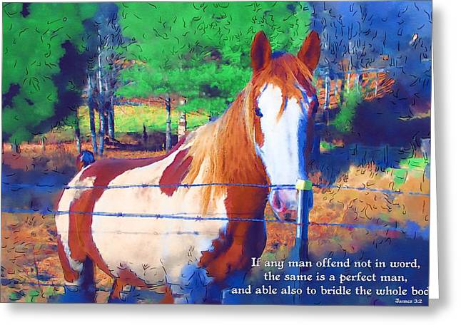 James 3 2 Greeting Card by Michelle Greene Wheeler