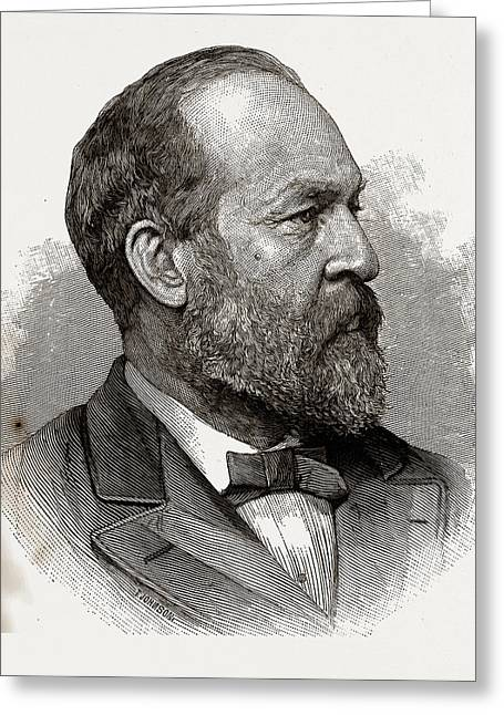 James A. Garfield, President-elect Of The United States Greeting Card by Litz Collection