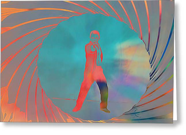 James Bond Pop Art Greeting Card by Dan Sproul