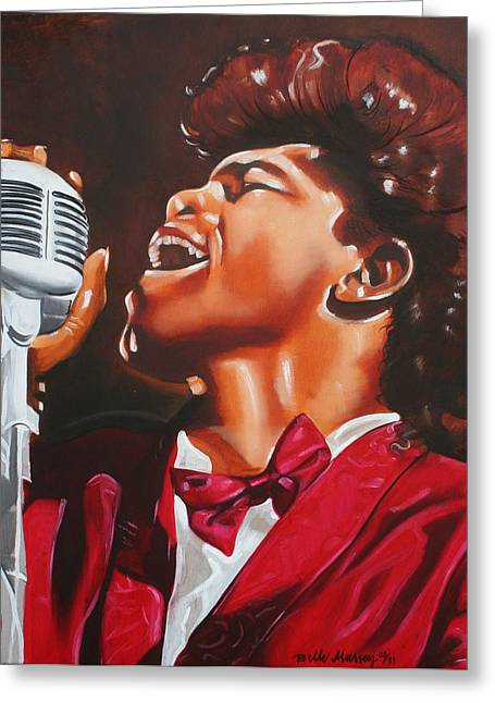 James Brown King Of Soul Greeting Card