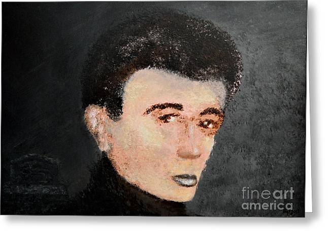James Dean Greeting Card by Alys Caviness-Gober