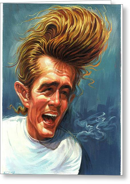 James Dean Greeting Card by Art