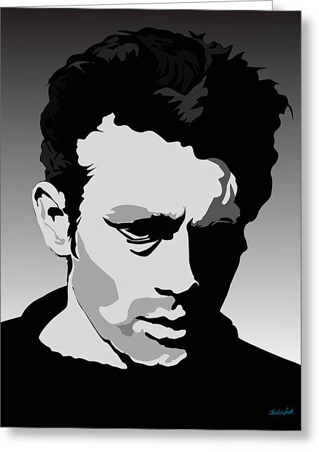 James Dean Greeting Card by Charles Smith