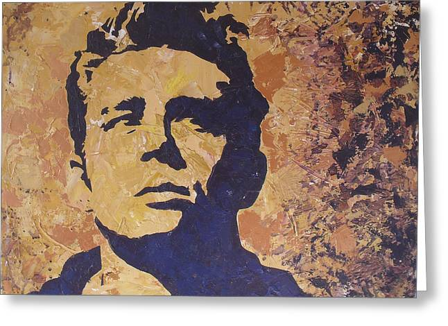 James Dean Greeting Card by David Shannon