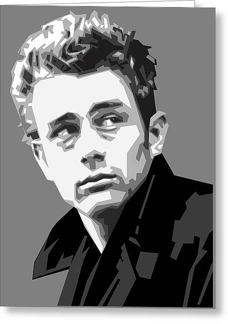 James Dean In Black And White Greeting Card by Douglas Simonson