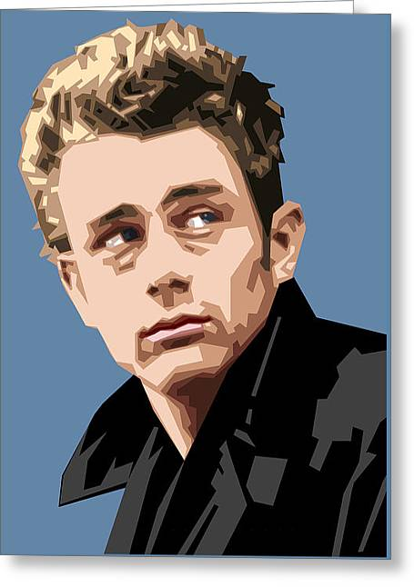 James Dean In Color Greeting Card by Douglas Simonson