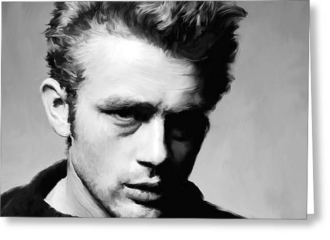 James Dean - Portrait Greeting Card by Paul Tagliamonte