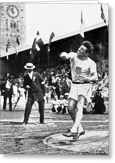 James Duncan Discus Throw Greeting Card
