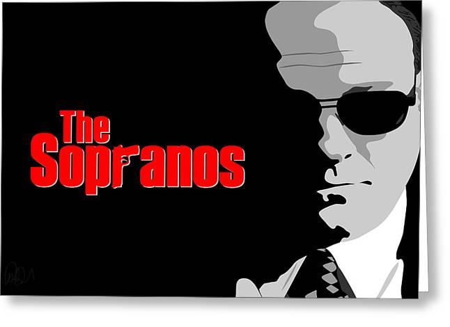 James Gandolfini As Tony Soprano Greeting Card by Paul Dunkel