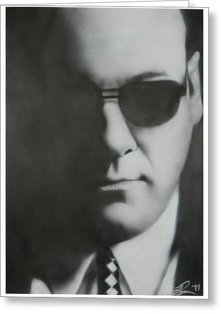 James Gandolfini/tony Soprano Greeting Card by Jake Rogers