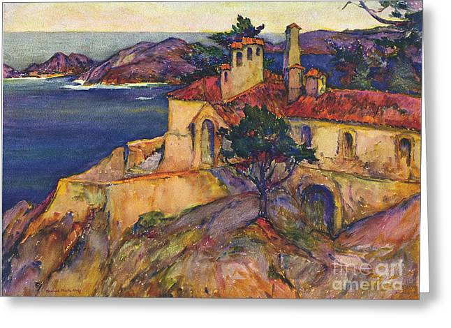 James House Carmel Highlands California By Rowena Meeks Abdy 1887-1945  Greeting Card by California Views Mr Pat Hathaway Archives