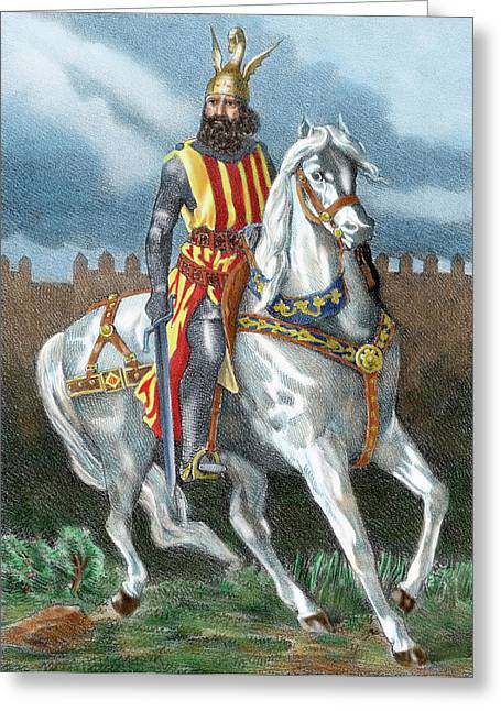 James I The Conqueror (1208-1276 Greeting Card by Prisma Archivo