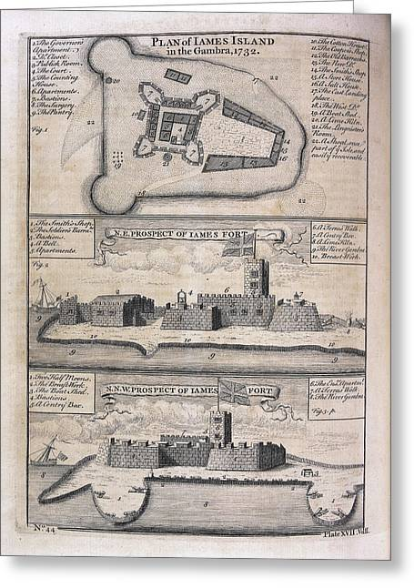 James Island And Fort Greeting Card by British Library