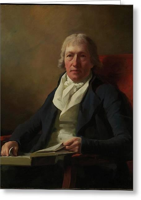 James Johnston Of Straiton Died 1841 Greeting Card by Sir Henry Raeburn