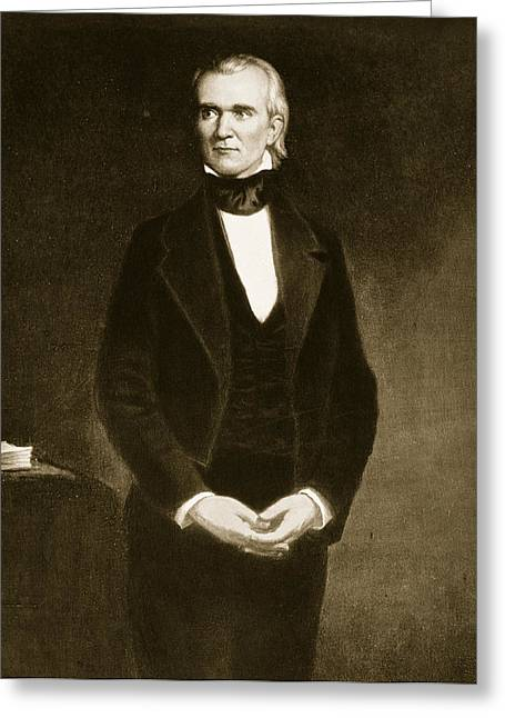James K Polk  Greeting Card by George Healy