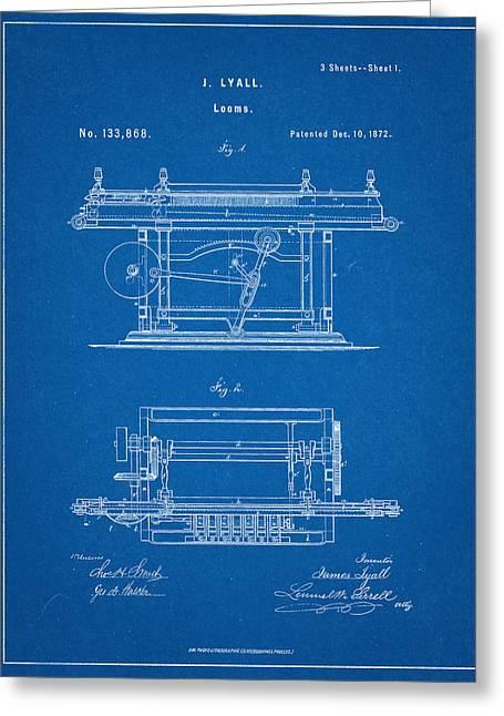 James Lyall Loom Patent Greeting Card by Decorative Arts