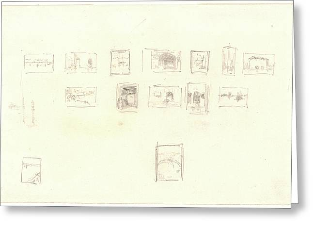 James Mcneill Whistler American, 1834 - 1903. Sketch Greeting Card by Litz Collection