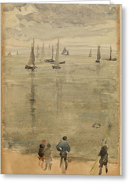 James Mcneill Whistler, Violet, The Return Of The Fishing Greeting Card