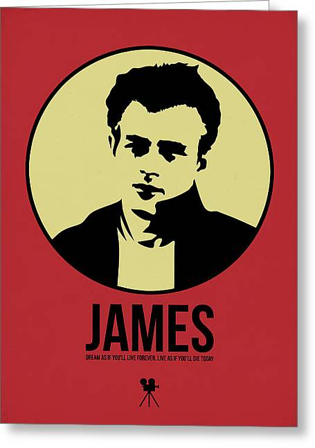 James Poster 2 Greeting Card by Naxart Studio