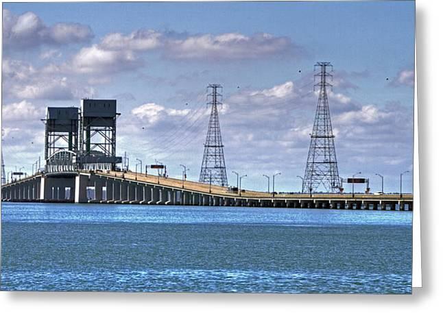 James River Bridge Greeting Card