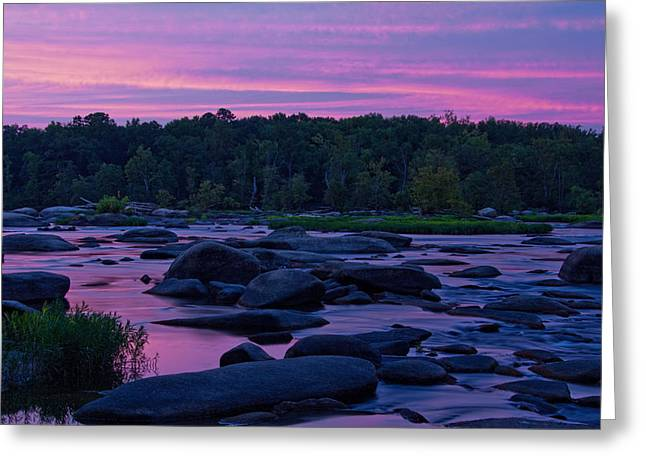 James River Sunset Greeting Card by Jemmy Archer