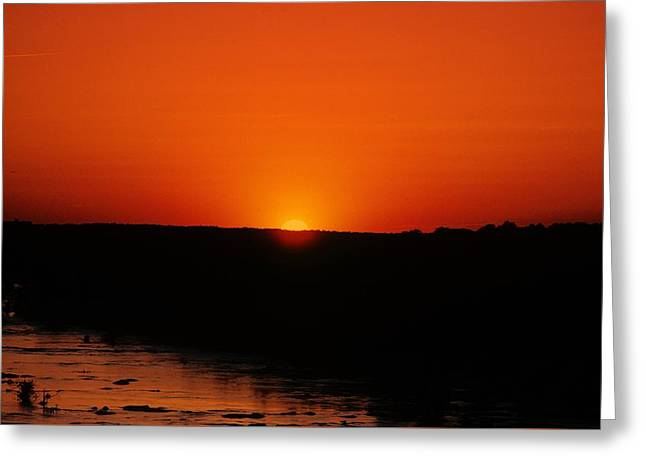 Greeting Card featuring the photograph James River Sunset by John Harding