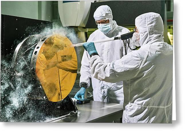 James Webb Space Telescope Cleaning Greeting Card by Nasa, Chris Gunn