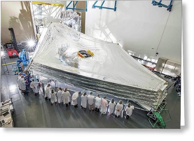 James Webb Space Telescope Sunshield Greeting Card by Nasa/chris Gunn