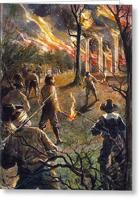 Jamestown Burning, 1676 Greeting Card by Granger
