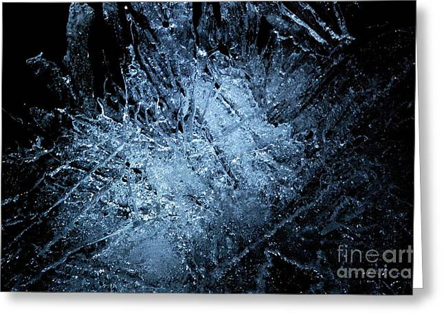 Greeting Card featuring the photograph jammer Frozen Cosmos by First Star Art