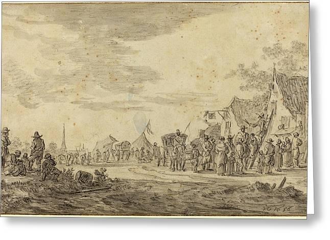 Jan Van Goyen Dutch, 1596 - 1656, Village Fair Greeting Card by Quint Lox