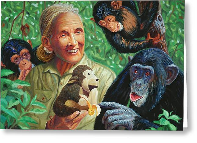 Jane Goodall Greeting Card by Steve Simon