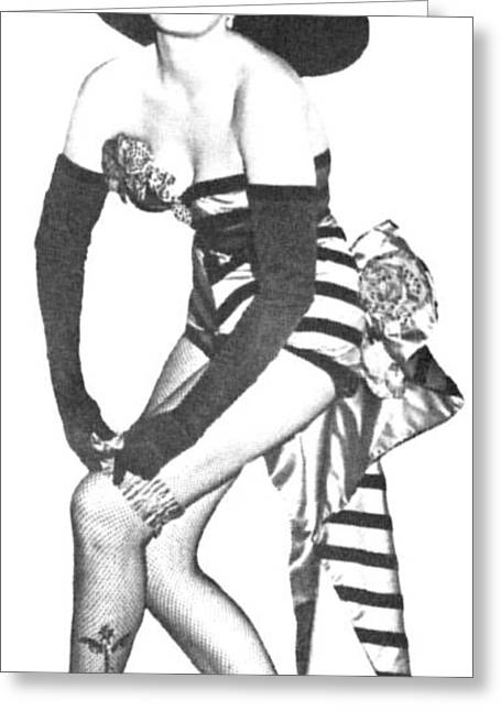 Jane Russell Greeting Card by Douglas Settle