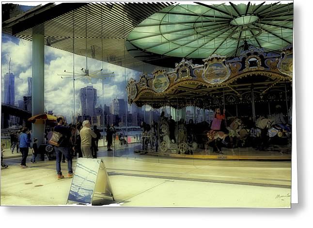Jane's Carousel 3 In Dumbo Greeting Card by Madeline Ellis