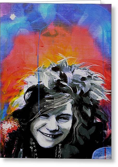 Janis Greeting Card by Erica Falke